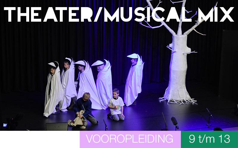 Vooropleiding THEATER/MUSIXAL MIX voor 9-13 jaar Jeugdtheaterschool Utrecht